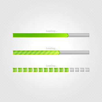Vector loading bars on grey background - vector gratuit #131685