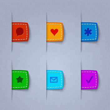 Vector textile web icons on grey background - Free vector #131695