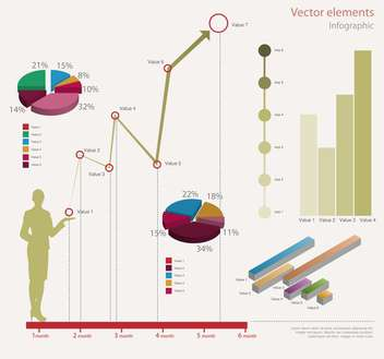 Vector infographic elements illustration - vector #131725 gratis