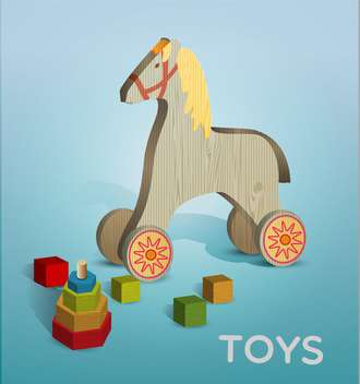 Vector illustration of different toys - Free vector #131735
