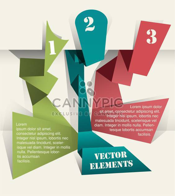 Vector origami background with numbers - Free vector #131745