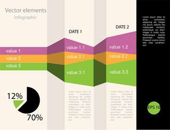 Vector infographic elements illustrations - vector gratuit #131815