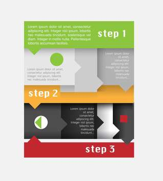 Vector infographic elements illustrations - vector gratuit #131835