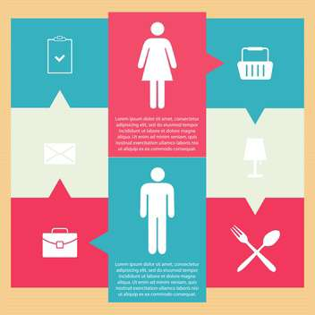 Set of icons on a theme communication vector illustration - vector #131985 gratis