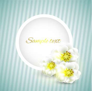 Vector floral frame on striped background - vector gratuit #131995