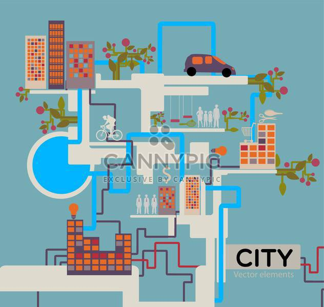City vector background info graphic - Free vector #132035
