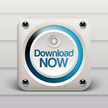 Download now white computer button icon - vector gratuit #132045