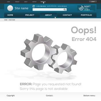 abstract vector website error 404 - vector gratuit #132185