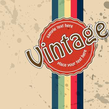 vector vintage label background with colorful lines - бесплатный vector #132215