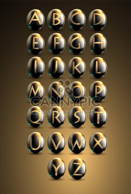 Golden shiny letters on brown background - Free vector #132245