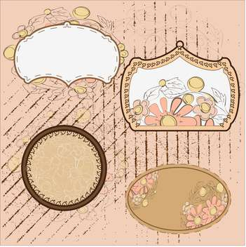 Vintage floral frames ,vector illustration - Free vector #132285