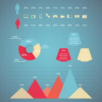 Business infographic elements ,vector illustartion - Free vector #132335