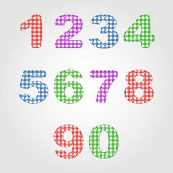old fashioned colorful numbers,vector illustration - Kostenloses vector #132345