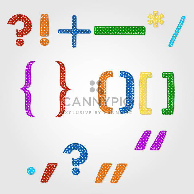 Punctuation marks polka dots font design - Free vector #132355