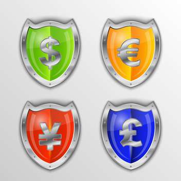 Vector money symbols set - vector #132365 gratis