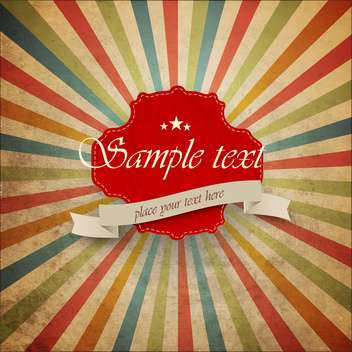 Bright retro background with red frame - vector gratuit #132405
