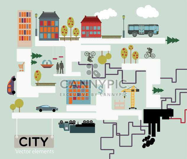 City vector background, infographic vector illustration - Kostenloses vector #132415
