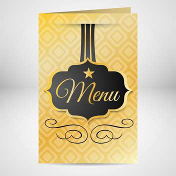 Golden restaurant menu design on gray background - Free vector #132425
