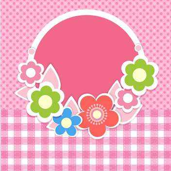 vector summer floral background - vector gratuit #132495