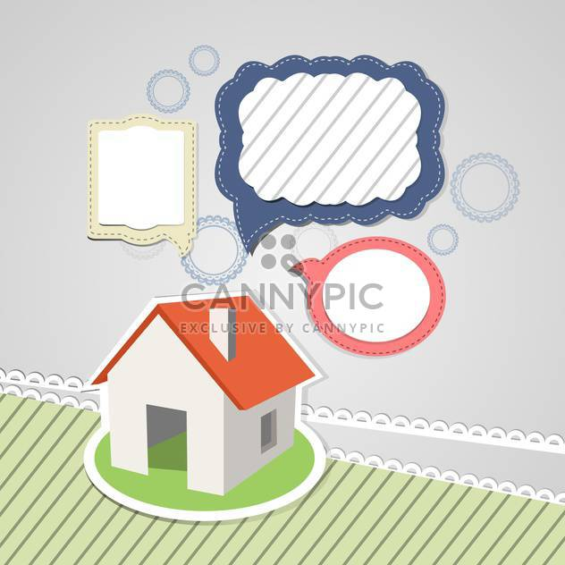 house mockup with speech bubbles - Free vector #132505