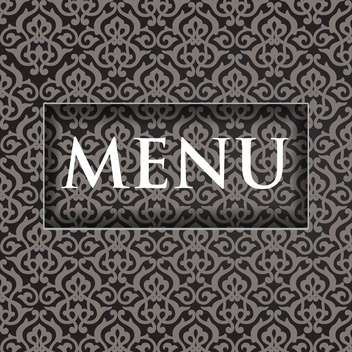 restaurant menu design background - vector gratuit #132525