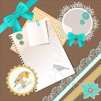 vintage frames background with birds - vector gratuit #132555