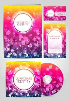 professional corporate identity covers - vector gratuit #132595