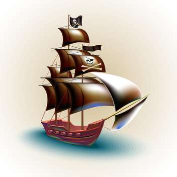 pirate ship vector illustration - vector #132665 gratis