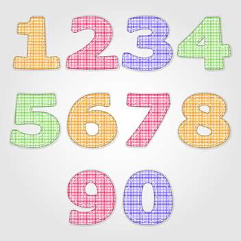 vector numbers set background - vector gratuit #132695