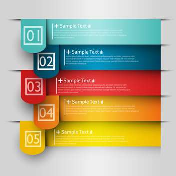 business option numeric banners - vector gratuit #132725