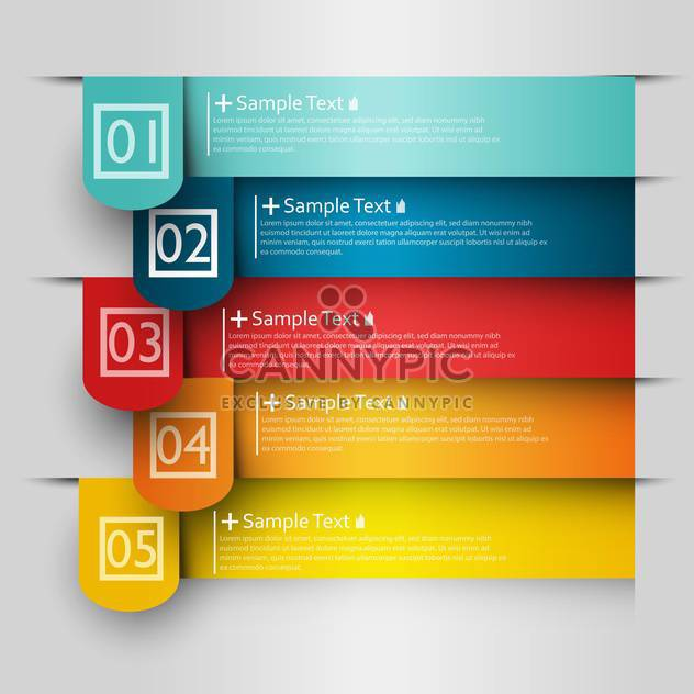 business option numeric banners - Free vector #132725