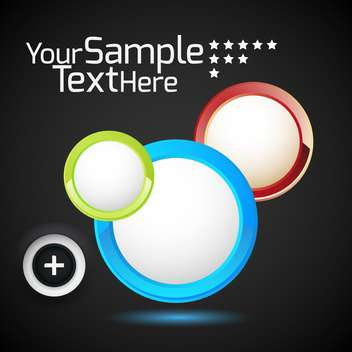 glossy round buttons set - Free vector #132755