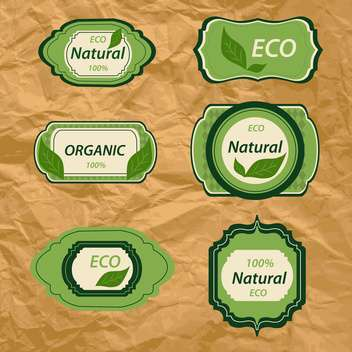 bio and eco vintage labels natural products - vector gratuit #132765