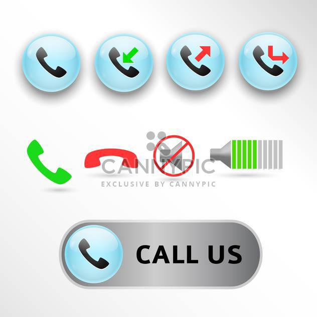 vector web call icons set - Free vector #132855