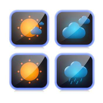 weather icons buttons set - Free vector #132905