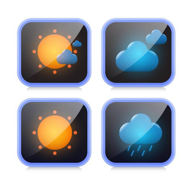 weather icons buttons set - бесплатный vector #132905