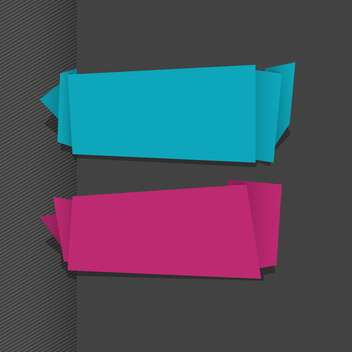 abstract paper ribbons vector background - vector gratuit #132965