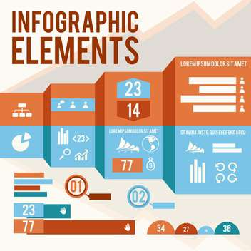 business infographic elements set - vector gratuit #133015