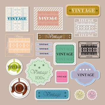 set of vector vintage labels - vector gratuit #133085