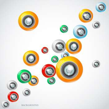camera lens vector background - vector #133095 gratis