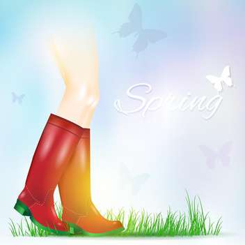 pair of shiny rain boots - vector gratuit #133115
