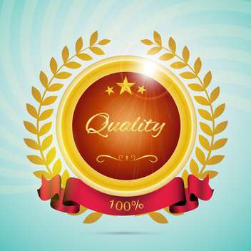 best quality label background - vector gratuit #133125