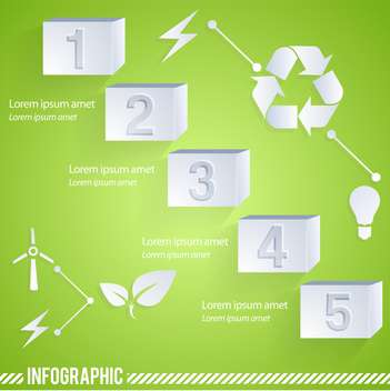 eco infographic elements set - vector #133175 gratis