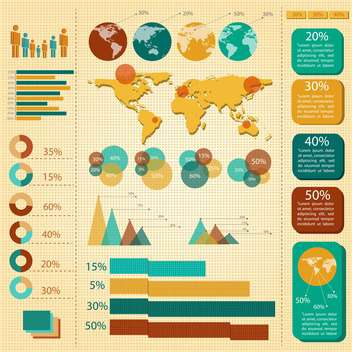 business infographic elements set - vector #133185 gratis