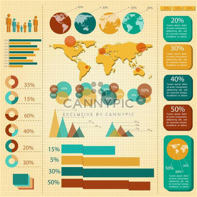 business infographic elements set - Free vector #133185