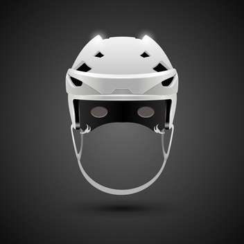 hockey game helmet illustration - vector gratuit #133205