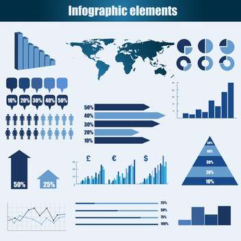 business infographic elements vector set - vector #133255 gratis