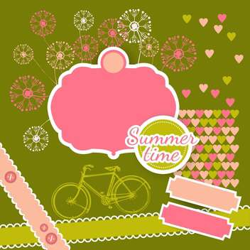 summer time vacation background - vector gratuit #133265
