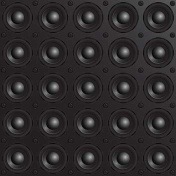 vector black speakers background - vector gratuit #133295