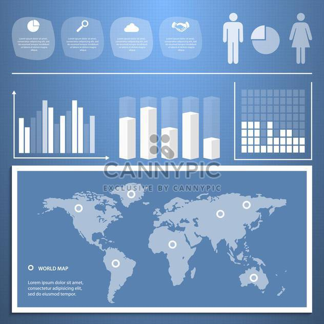 business infographics with population statistics - Free vector #133375
